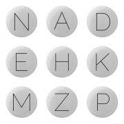 Wieszak ceramiczny ALFABET, litera C