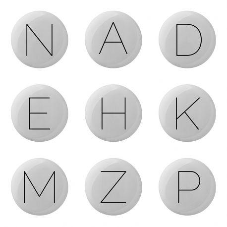 Wieszak ceramiczny ALFABET, litera F