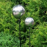 Kula ogrodowa ze stali nierdzewnej z metalowym mocowaniem 120 cm wysokość