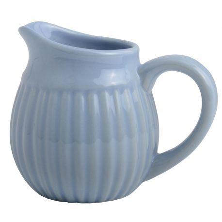 Dzbanuszek ceramiczny na mleko MYNTE, niebieski
