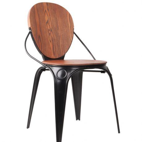 Krzesło LOUIX, antyczne czarne