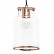 Lampa ze szklanym kloszem miedziana, rozmiar S