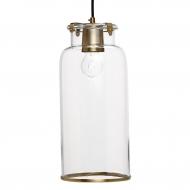 Lampa ze szklanym kloszem złoty antyczny, rozmiar L