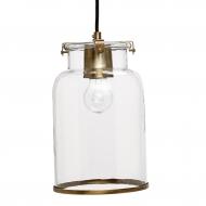 Lampa ze szklanym kloszem złoty antyczny, rozmiar S