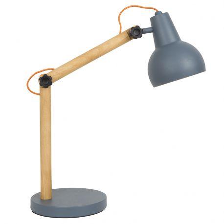 Lampa stołowa STUDY, szara