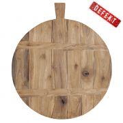Deska do krojenia z drewna tekowego - DEFEKT