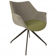 Fotel DOULTON, szaro- zielony