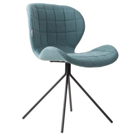 Krzesło OMG, niebieskie - Zuiver