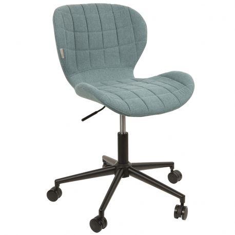 Krzesło biurowe OMG, niebieskie - Zuiver