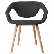 Krzesło FLEX BACK, ciemno szary/ jasne nogi