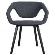 Krzesło FLEX BACK, ciemno szary/ czarne nogi