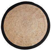 Dywan okrągły, czarny