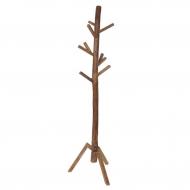 Wieszak stojący drewniany, naturalny