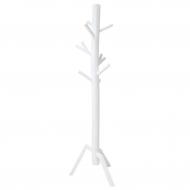 Wieszak stojący drewniany, biały