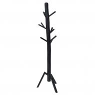 Wieszak stojący drewniany, czarny