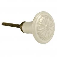 Gałka ceramiczna, biała