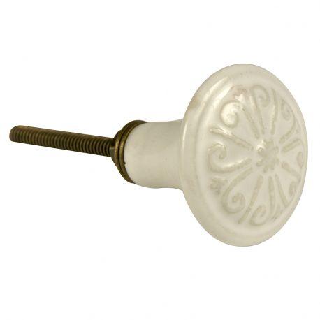Gałka ceramiczna, biała - Ib Laursen