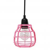 Lampa LAB z włącznikiem, różowa