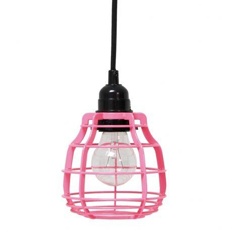 Lampa LAB z włącznikiem, różowa - HK living