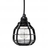 Lampa LAB z włącznikiem, czarna