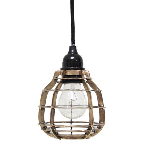 Lampa LAB z włącznikiem, mosiężna