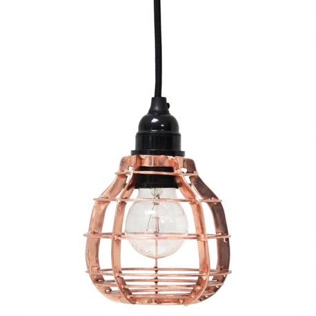 Lampa LAB z włącznikiem, miedziana