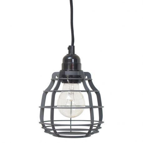 Lampa LAB z włącznikiem, szara