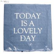 Serwetki papierowe niebieskie 20 sztuk