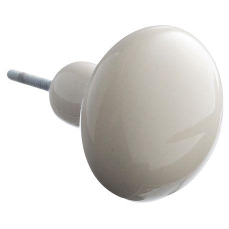 Gałka ceramiczna XXL, kremowa