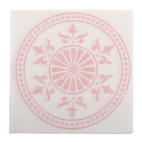 Serwetki papierowe CIRCLE, wzór różowy, 20 szt.