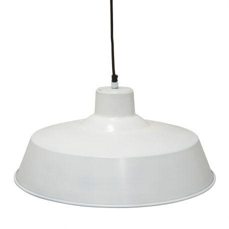 Lampa wisząca FACTORY duża, biała - Ib Laursen