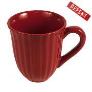 Kubek ceramiczny MYNTE, czerwony - DEFEKT 2