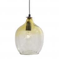 Lampa wisząca szklana, żółta