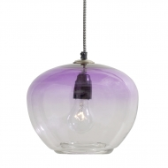 Lampa wisząca szklana, fioletowa