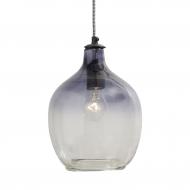 Lampa wisząca szklana I, granatowa