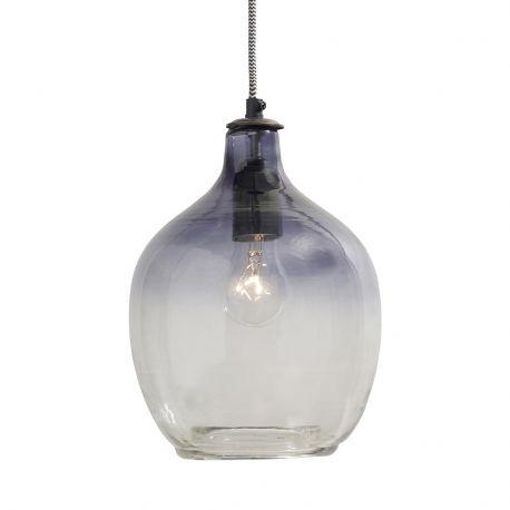 Lampa wisząca szklana I, granatowa - Nordal