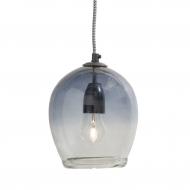 Lampa wisząca szklana, granatowa