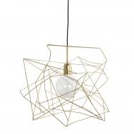 Lampa ASYMMETRIC 45x45 cm, złota
