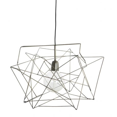Lampa ASYMMETRIC 45x45 cm, srebrna - House Doctor