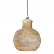 Lampa drewniana CARVING PITCHER, duża