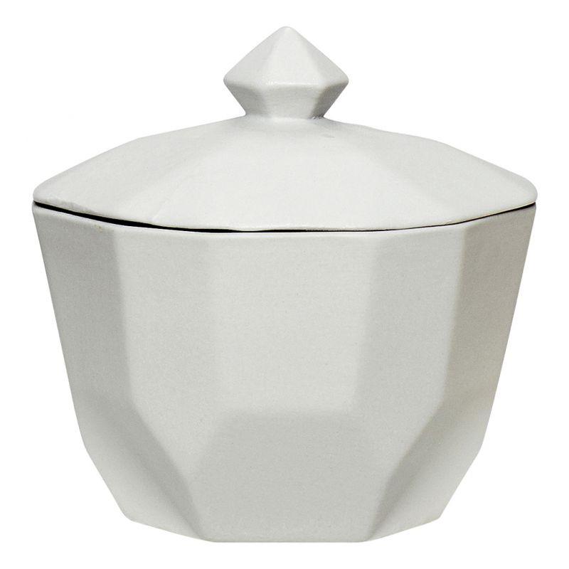 Ozdobna cukierniczka ceramiczna, szara - z kolekcji marki HÜBSCH