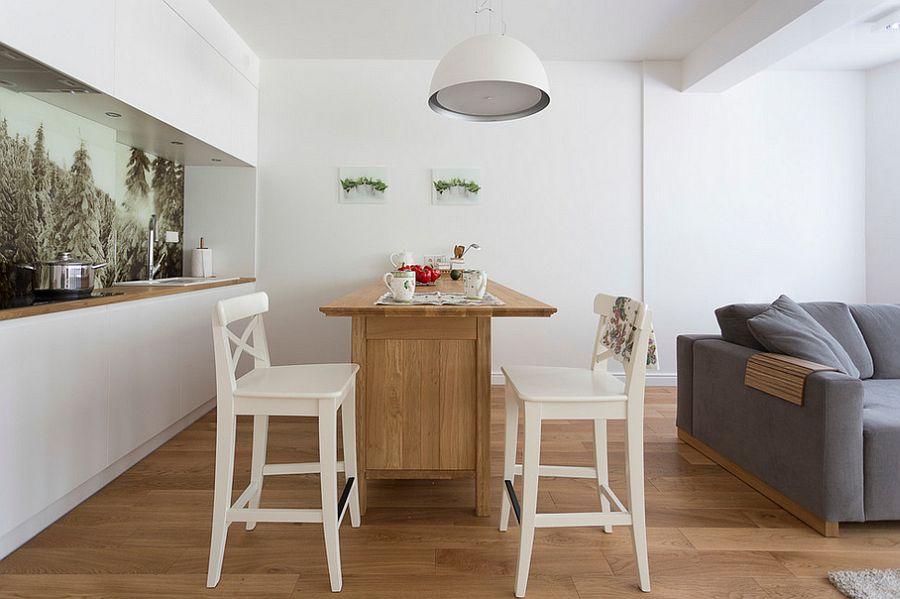 drewno i biel - kuchnia skandynawska w Polskim domu