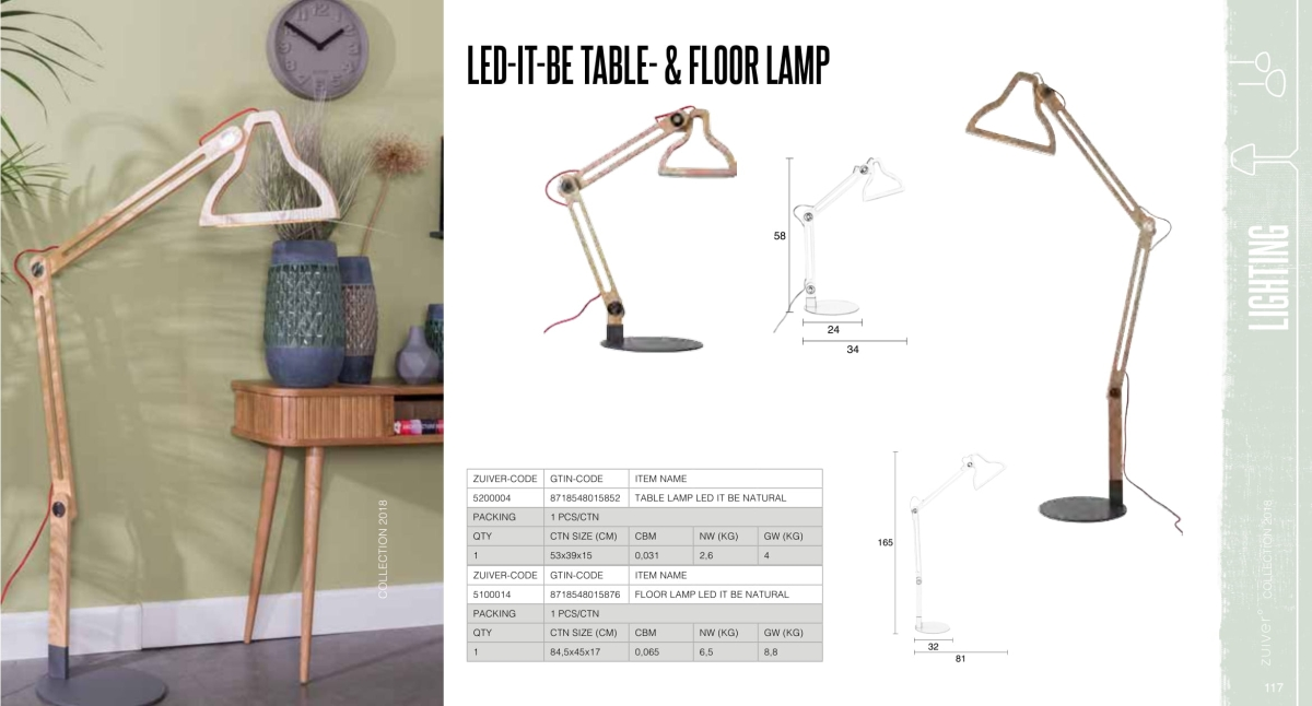 let-it-be table floor lamp - lampy zuiver - kolekcja 2018