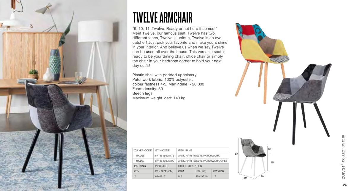 krzesła zuiver 2018 - twelve armchair