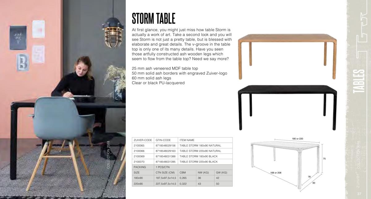 stoły i stoliki zuiver 2018 - storm table
