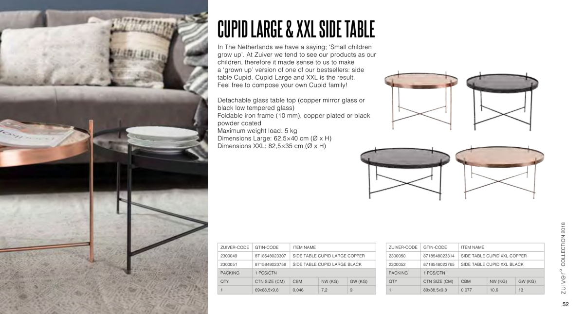 stoły i stoliki zuiver 2018 - cupid large side table
