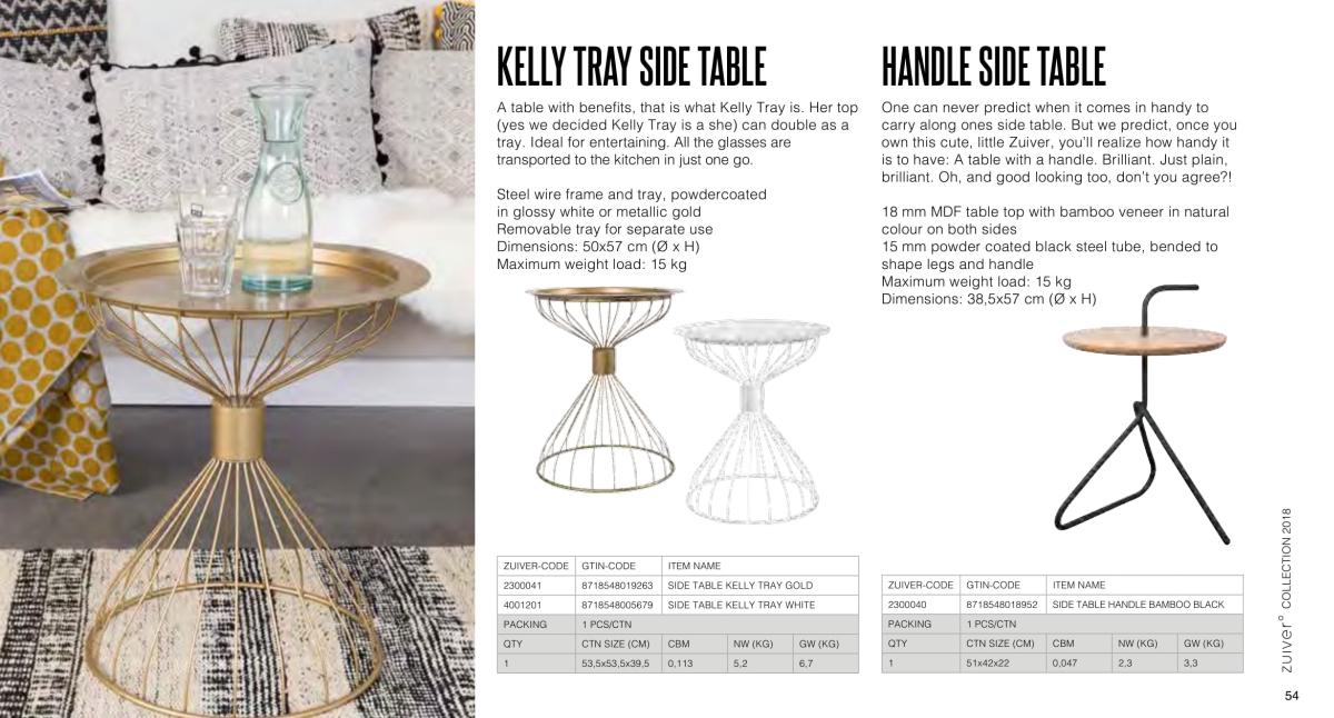stoły i stoliki zuiver 2018 - kelly tray side table