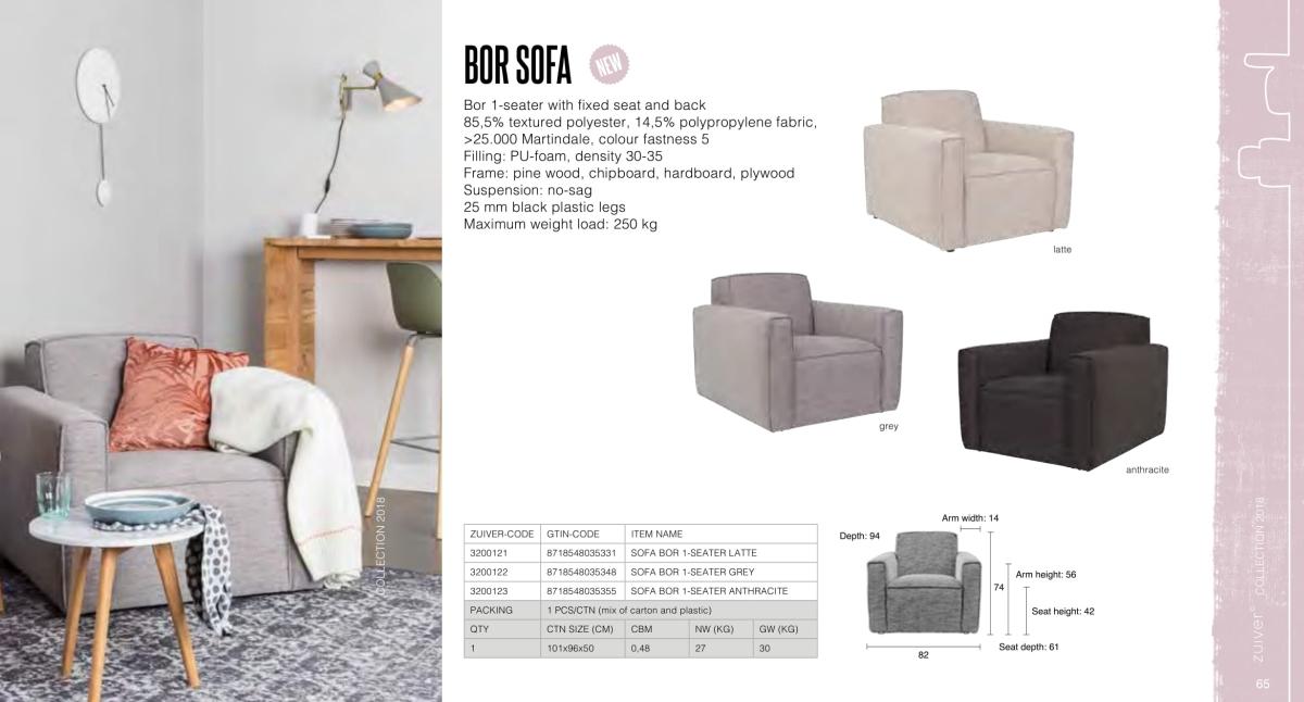 fotele i sofy zuiver 2018 - bor sofa