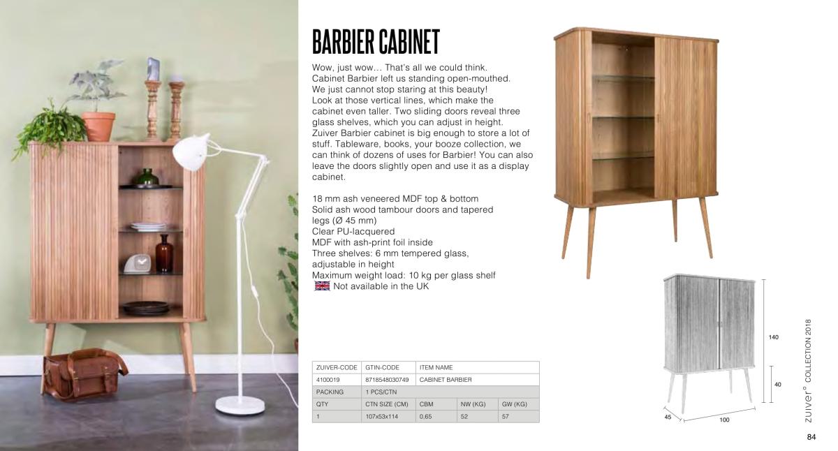 barbier cabinet - szafka / komoda - zuiver kolekcja 2018