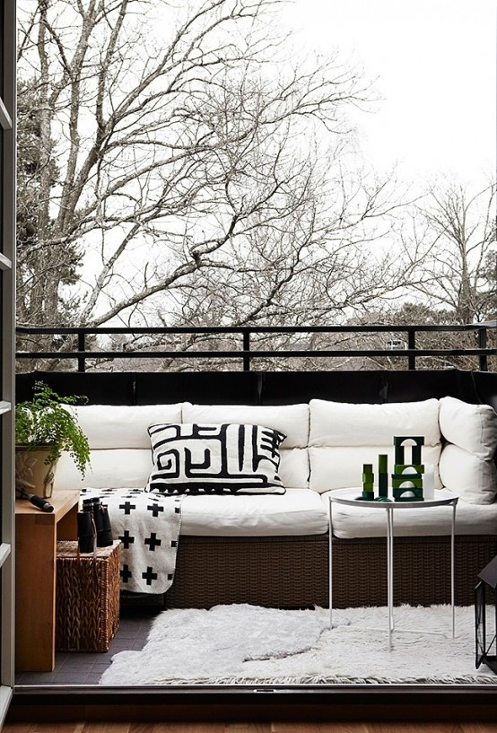 Balkon W Stylu Skandynawskim -